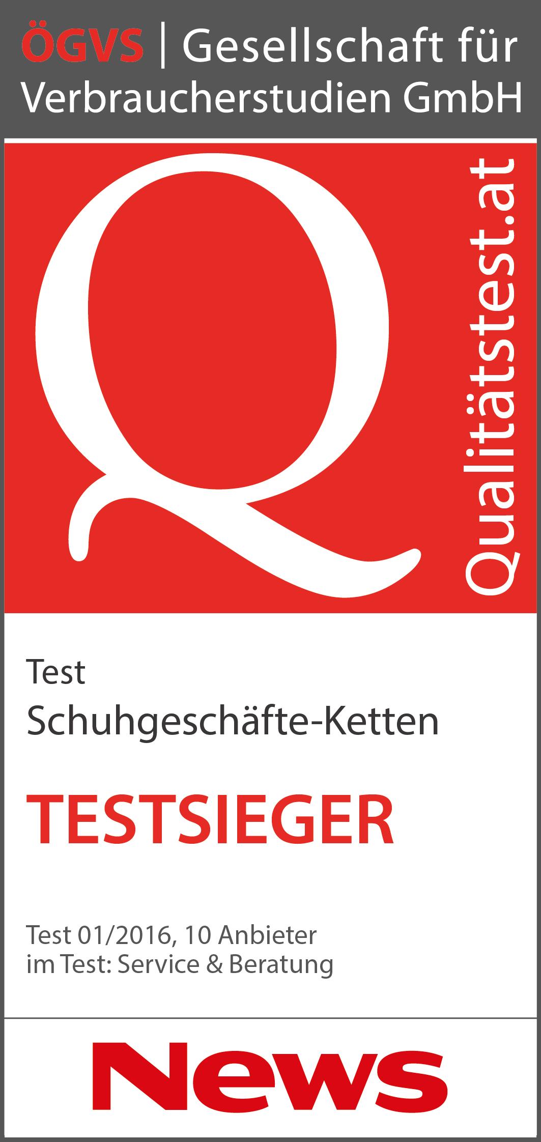 69b21a87752817 Schuhgeschäfte-Ketten  Test von Service und Beratung 2016