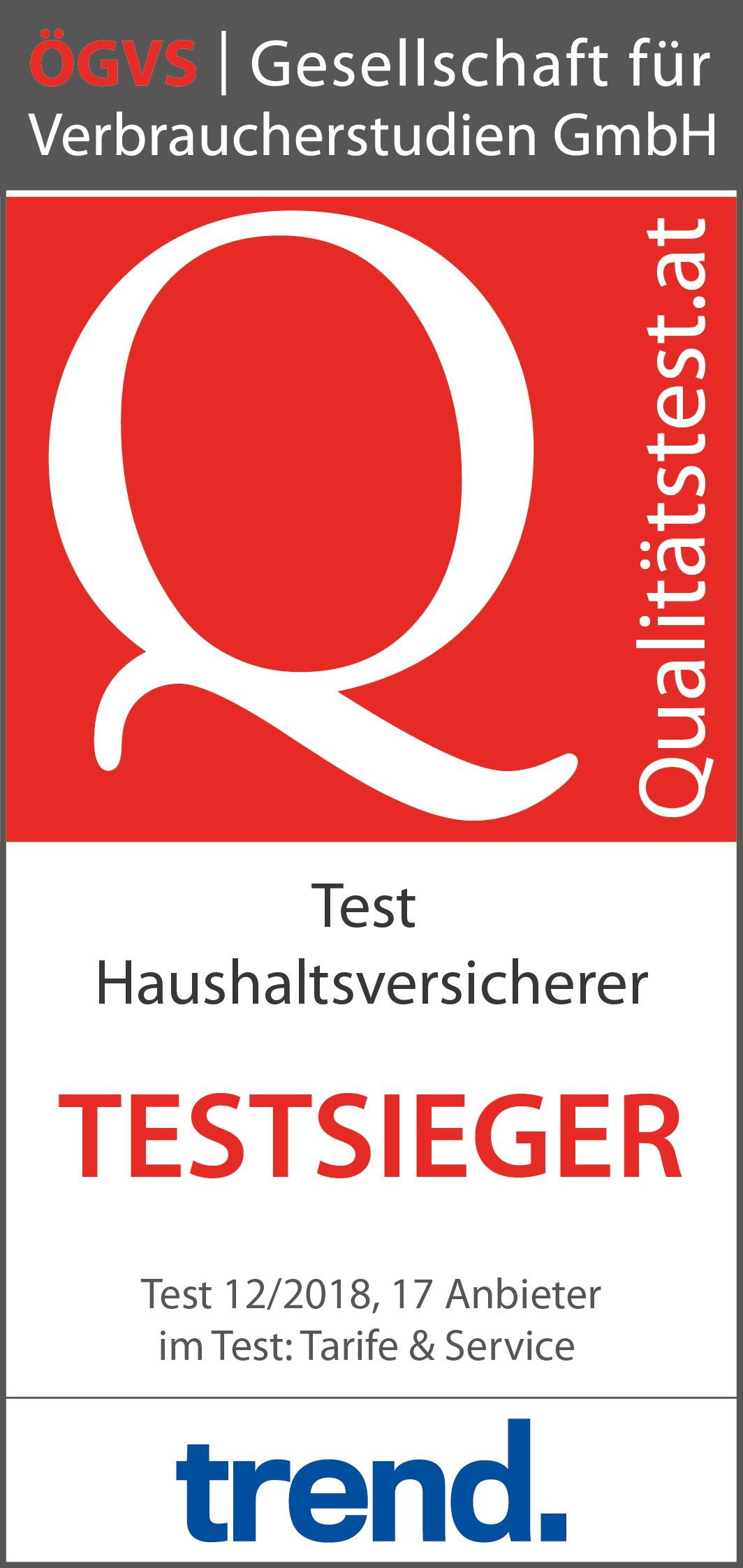 Haushaltsversicherer Test Von Tarifen Und Servicequalität ögvs