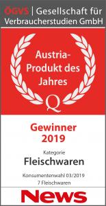 Siegel Austria Produkt des Jahres